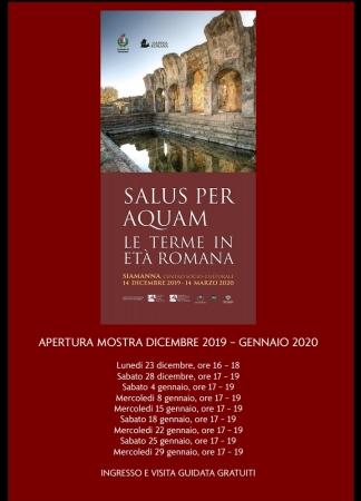 Mostra 'Salus per aquam-Le terme in età romana' 14 dicembre 2019 / 14 marzo 2020