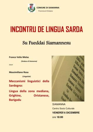 'Su fueddai Siamannesu' - Incontru de lingua sarda