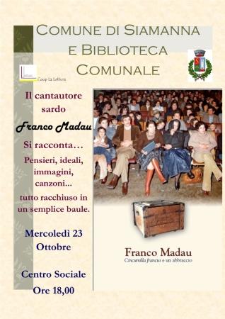 Presentazione del libro di Franco Madau 'Cincumilla francus e un abbraccio'